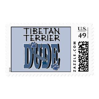 Tibetan Terrier DUDE Stamp