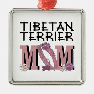 Tibetan Terrier MOM Christmas Ornaments