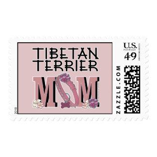 Tibetan Terrier MOM Postage Stamp