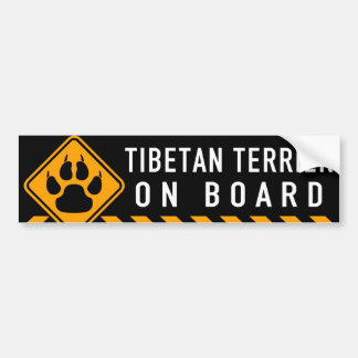 Tibetan Terrier On Board Bumper Sticker