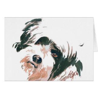 Tibetan Terrier portrait Card