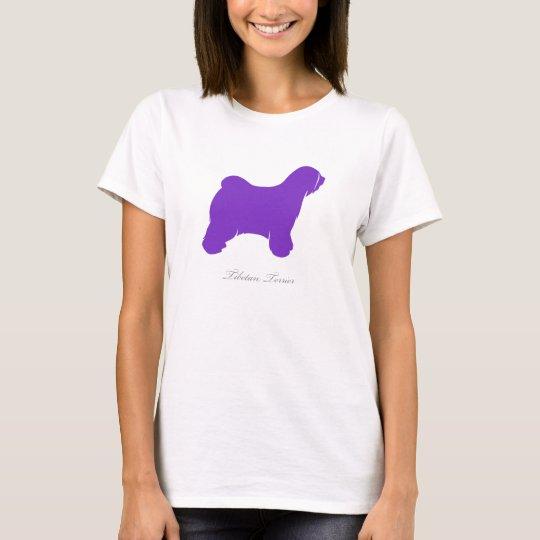 Tibetan Terrier T-shirt (purple silhouette)