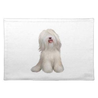 Tibetan Terrier (white) Cloth Place Mat