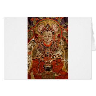 TIBETAN THANGKA ART WORK ON SILK GREETING CARDS