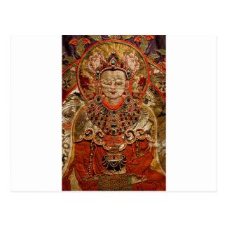 TIBETAN THANGKA ART WORK ON SILK POST CARDS