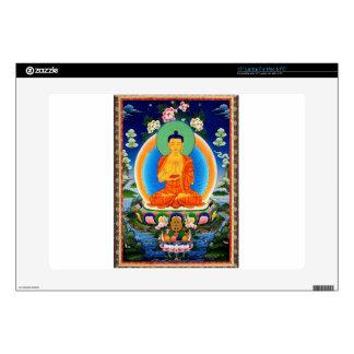"""Tibetan Thangka Prabhutaratna Buddha 15"""" Laptop Decal"""
