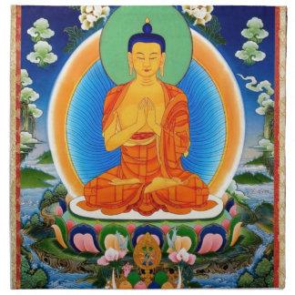 Tibetan Thangka Prabhutaratna Buddha Cloth Napkin