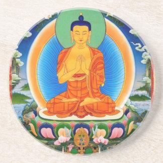 Tibetan Thangka Prabhutaratna Buddha Coaster