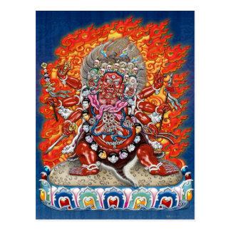 Tibetan Thangka  - Wrathful Deity Hayagriva Postcard