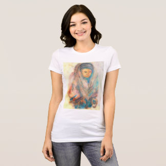 Tibetan woman: Original water color & digitized T-Shirt