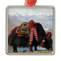 Tibetan Yak Metal Ornament