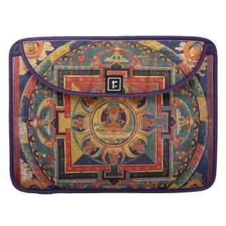 Tibetano antiguo Buda de la mandala Funda Para Macbook Pro