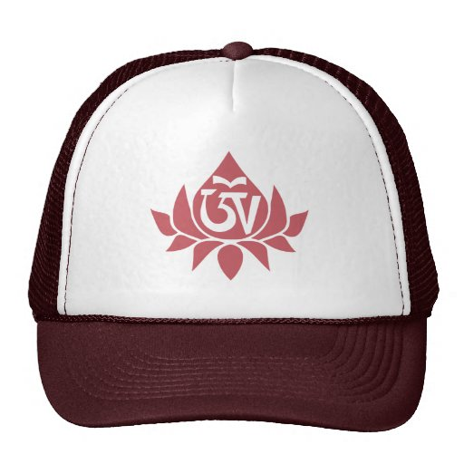 Tibetano Aum y casquillo de Lotus Gorros