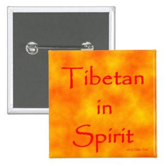 Tibetano en Alcohol-botón Pin Cuadrado