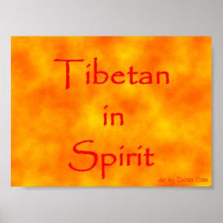 Tibetano en Alcohol-Poster
