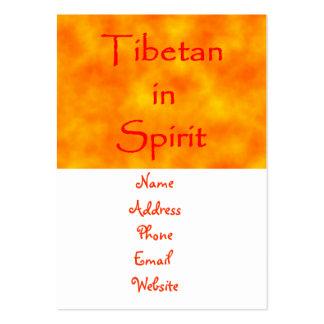 Tibetano en tarjetas del Alcohol-negocio Tarjetas De Visita Grandes