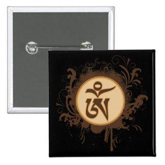 Tibetano OM Pin Cuadrada 5 Cm