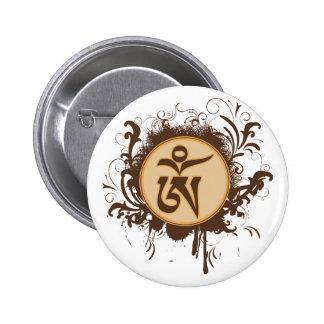 Tibetano OM Pin Redondo 5 Cm