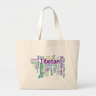 Tibetian Terrier Large Tote Bag