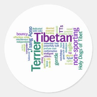 Tibetian Terrier Pegatina Redonda