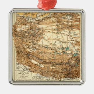 TibetPanoramic MapTibet Metal Ornament