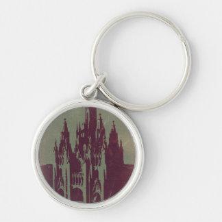 Tibidabo Barcelona Silver-Colored Round Keychain