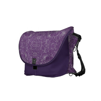 Tibouchina Pattern Courier Bag