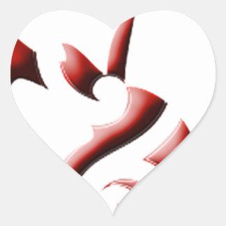 tiburón 4 pegatina en forma de corazón