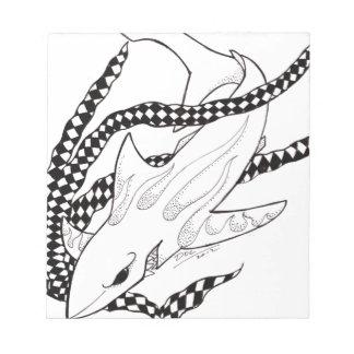 tiburón a cuadros bloc de notas