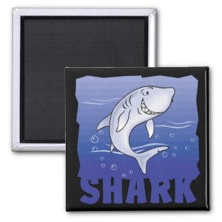 Tiburón amistoso del niño imán cuadrado