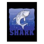 Tiburón amistoso del niño tarjeta postal