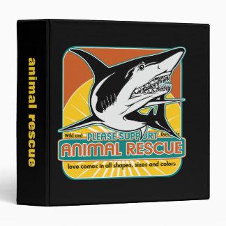 """Tiburón animal del rescate carpeta 1 1/2"""""""
