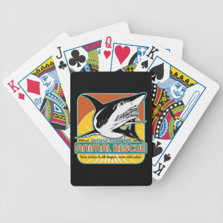 Tiburón animal del rescate barajas de cartas