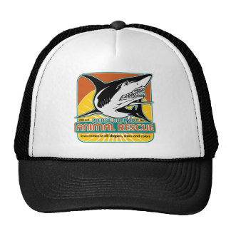 Tiburón animal del rescate gorros bordados