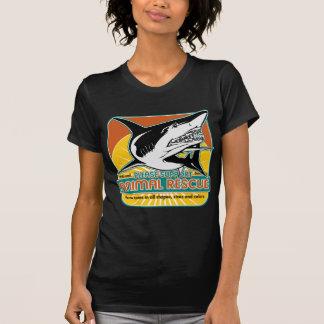 Tiburón animal del rescate remeras