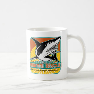 Tiburón animal del rescate taza de café