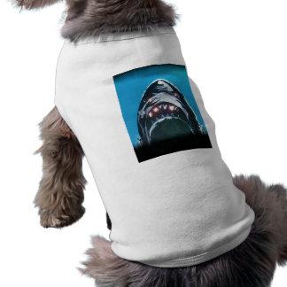 Tiburón asustadizo playera sin mangas para perro