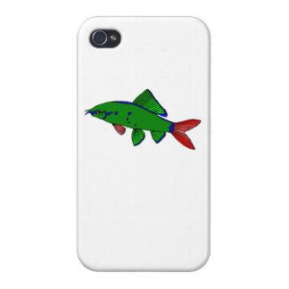 Tiburón atado rojo iPhone 4 carcasas