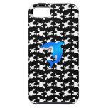Tiburón azul con el modelo blanco y negro de los iPhone 5 coberturas