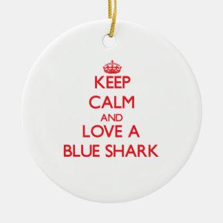 Tiburón azul adorno de navidad