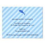Tiburón azul invitación 10,8 x 13,9 cm