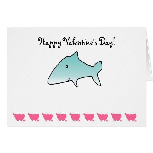 Tiburón azul marino tarjeta de felicitación