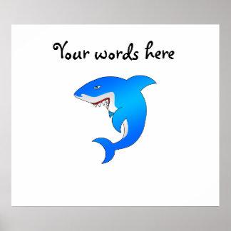 Tiburón azul poster