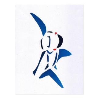 Tiburón azul tarjeta postal