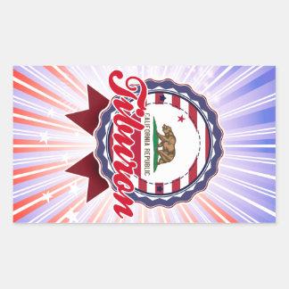 Tiburon CA Rectangular Stickers
