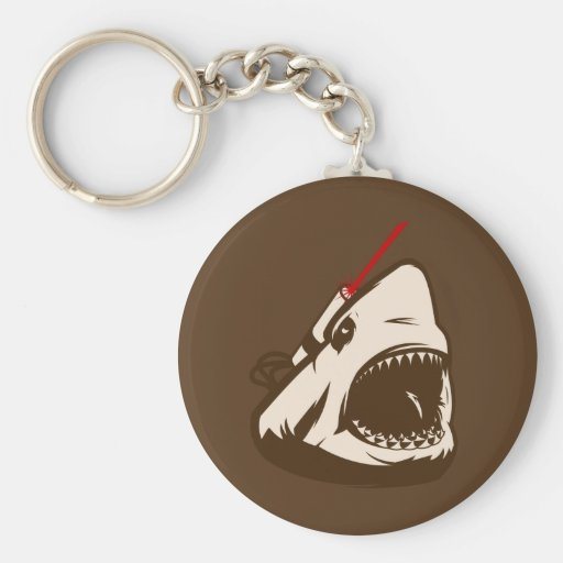Tiburón con un Frickin de rayo láser Llavero Redondo Tipo Pin