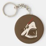 Tiburón con un Frickin de rayo láser Llaveros