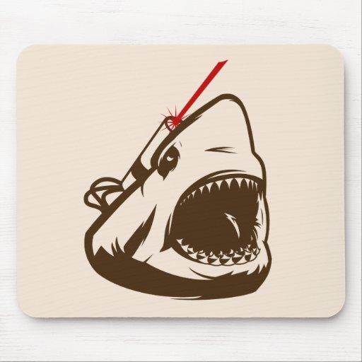 Tiburón con un Frickin de rayo láser Mousepads