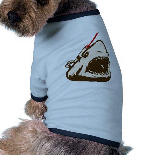 Tiburón con un Frickin de rayo láser Camisas De Mascota