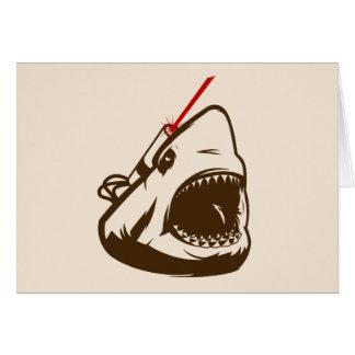 Tiburón con un Frickin de rayo láser Tarjetón